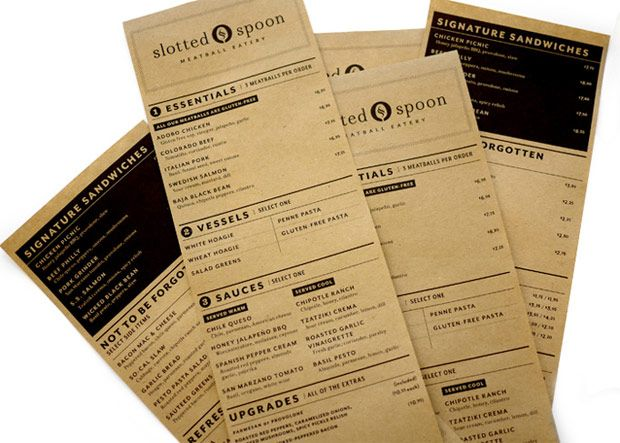 Resultado de imagen para menu de restaurante mesas