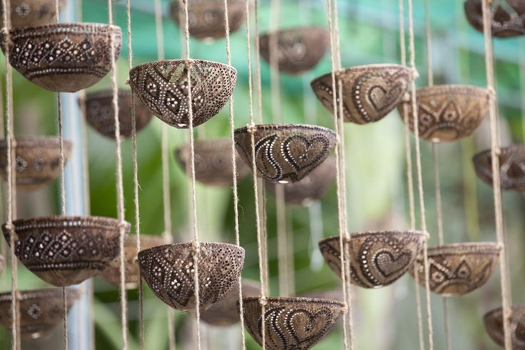 Coconut shell craft is a 100 eco friendly art form from for How to make home decorations