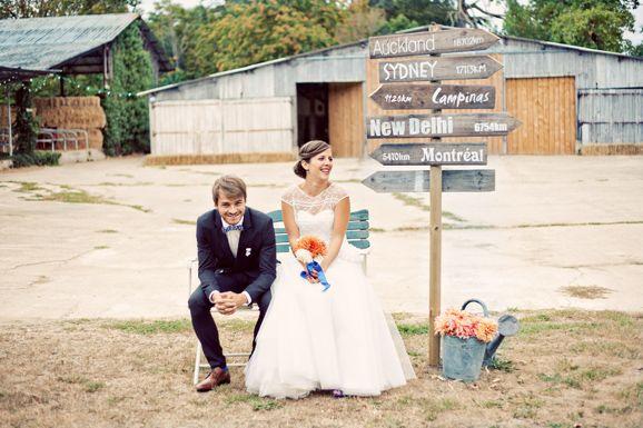 photos de mariés originales Panneaux destinations