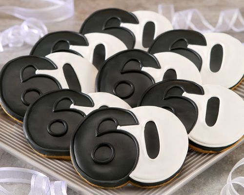 60th black and white cookies