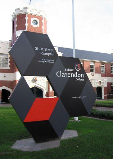 ballarat clarendon college–signage + wayfinding - crampton d+a