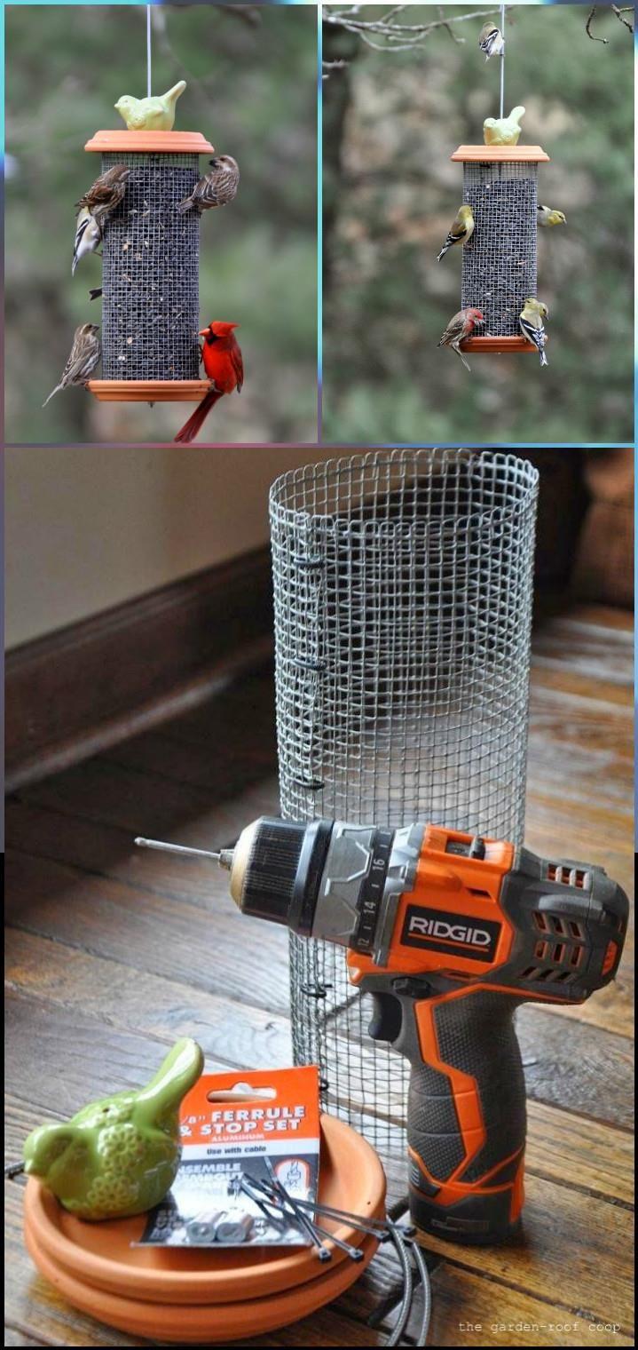 Unique Sunflower tower Bird Feeder - 89 Unique DIY Bird Feeders – Full Step by Step Tutorials
