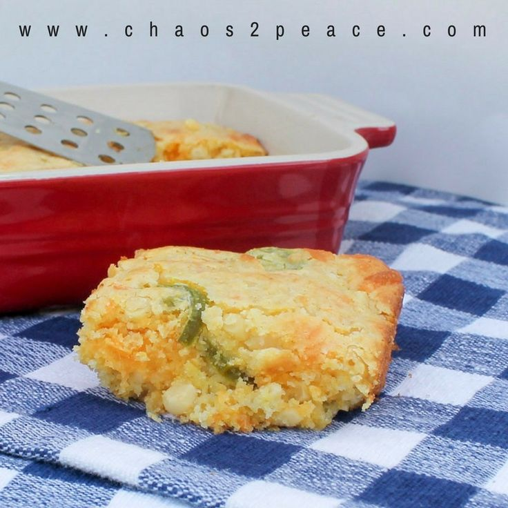 This simple cornbread is lightly sweet and a slightly spicy...making the best combination. Starting with a box of Jiffy cornbread mix this will make any dinner complete!