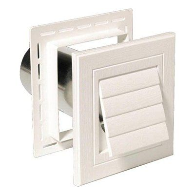 7.88-in x 7.13-in Ultra White Dryer Exhaust Mounting Block