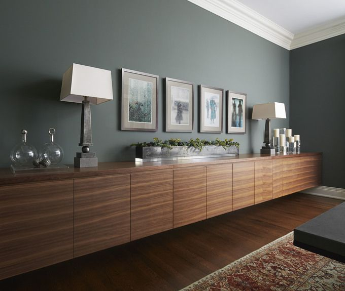 Lovely Deep Green Paint Choice By Morgante Wilson Architects