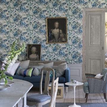 Tapeten Roseto  från Designers Guild online hos Engelska Tapetmagasinet | Tapeter | Inredning | Göteborg | Floral Wallpaper  | Romantic | Tapetbutik