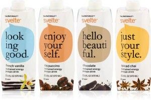 Svelte protein drink packaging with women in mind