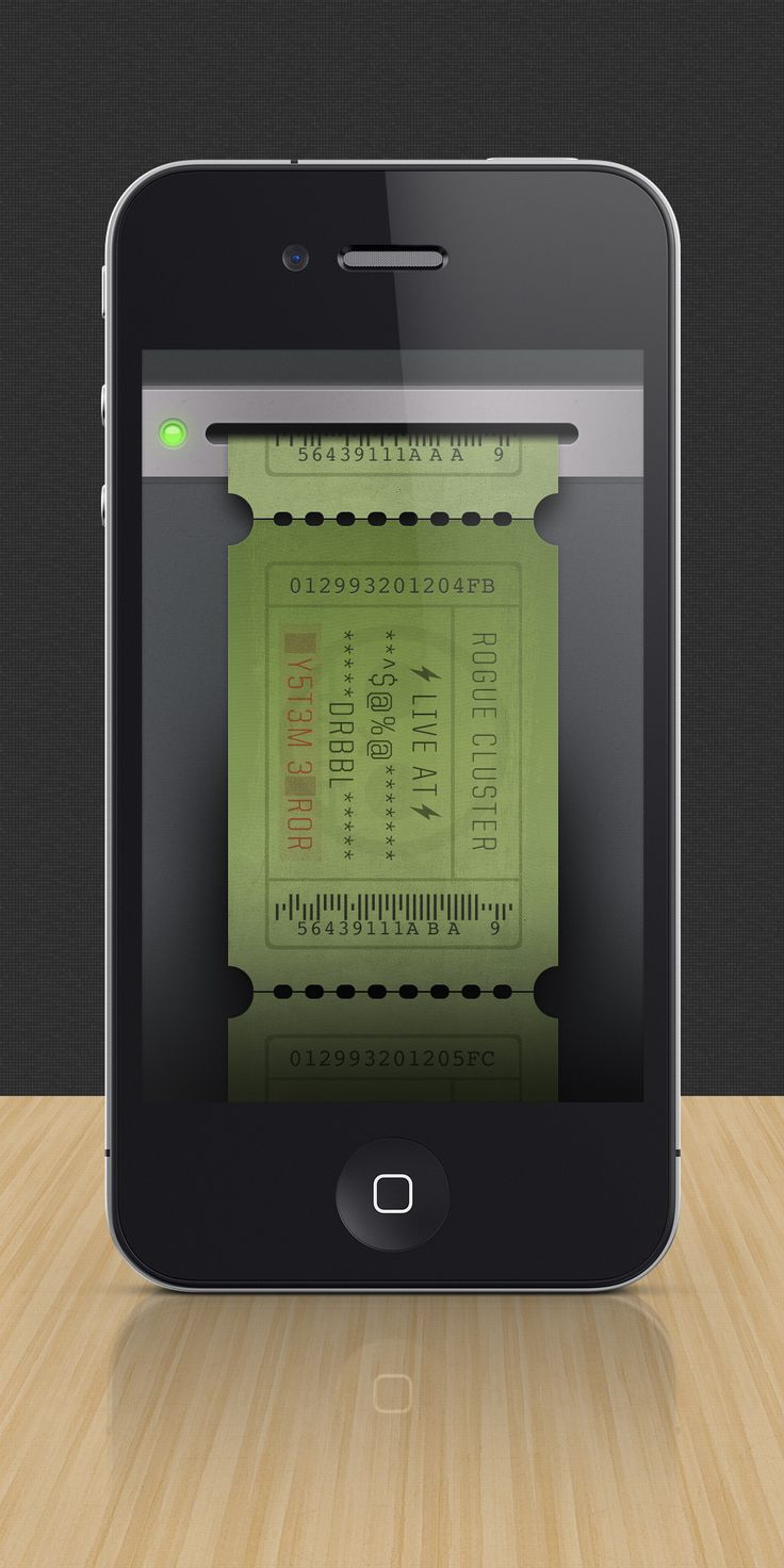 iPhone Ticket #ui #mobile #design