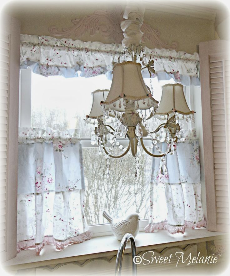 17 best images about cortinas shabby chic on pinterest Shabby chic curtain window