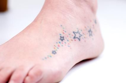 star foot tattoos for women | Foot Tattoos
