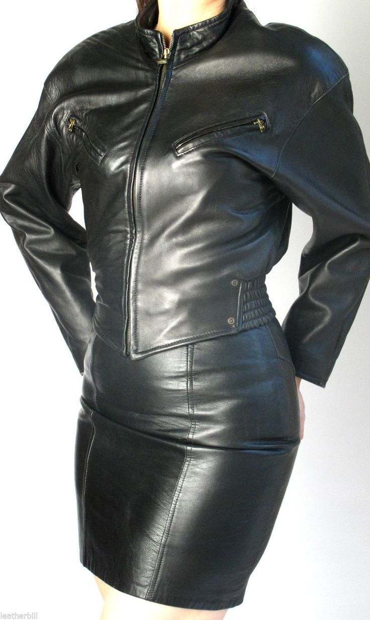 Tight leather jackets
