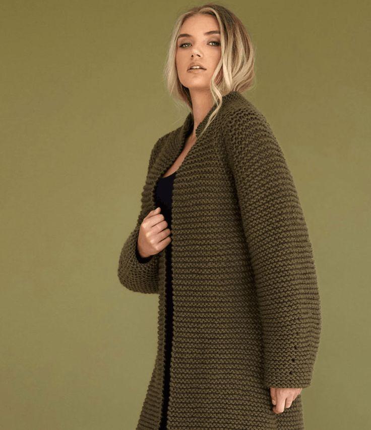Пальто из толстой пряжи Moss Из новой коллекции Ким Харгривз.