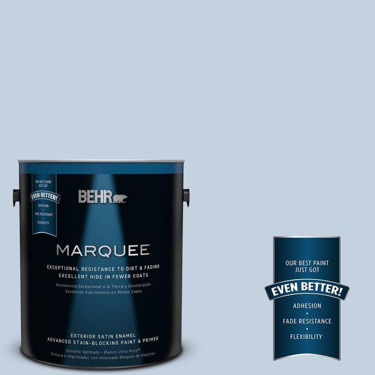 BEHR MARQUEE 1-gal. #570E-2 Velvet Sky Satin Enamel Exterior Paint