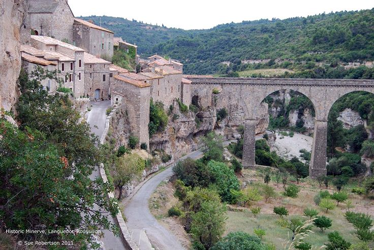 Minerve town view