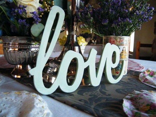 Decoração de casamento com Letras