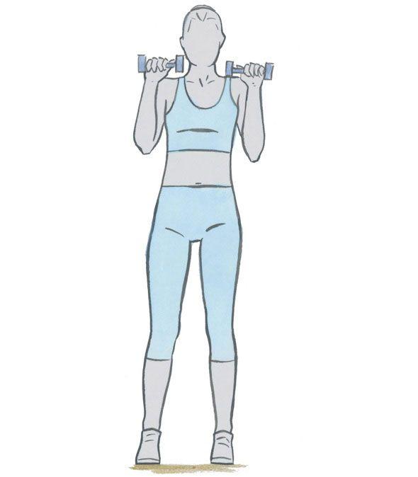 Geef je armen de nodige aandacht en doe twee sets van 12 herhalingen van deze oefeningen. Je kan ook twee sets van 12 van een oefening doen en het combineren met onze andere tips voor een platte buik, mooie benen en strakke billen.
