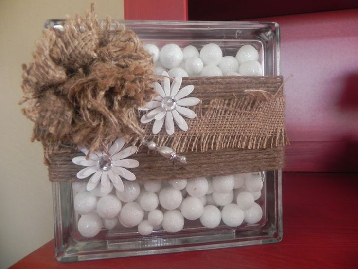Glass Block Craft Ideas For Christmas Part - 43: Glass Block With Flowers - Google Search
