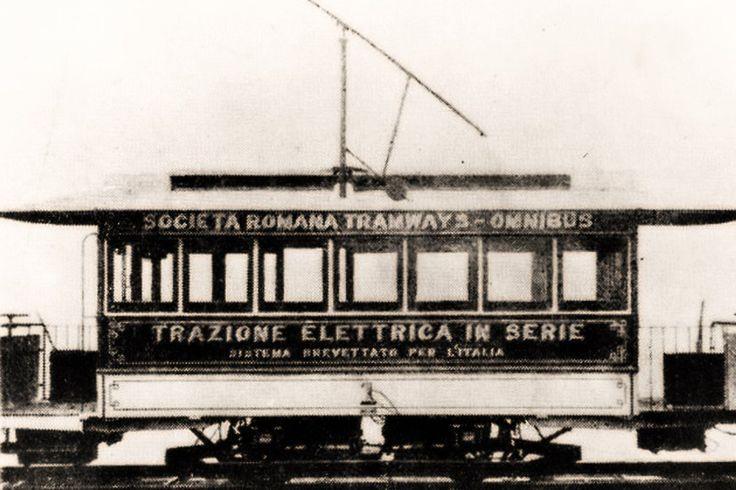 6 Luglio 1890… #Roma, il primo #Tram #Elettrico