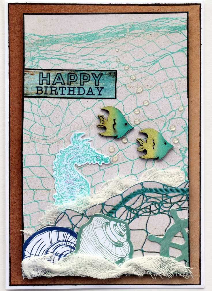 Kaisercraft Coastal Escape - Fishnet card by Collette Mitrega
