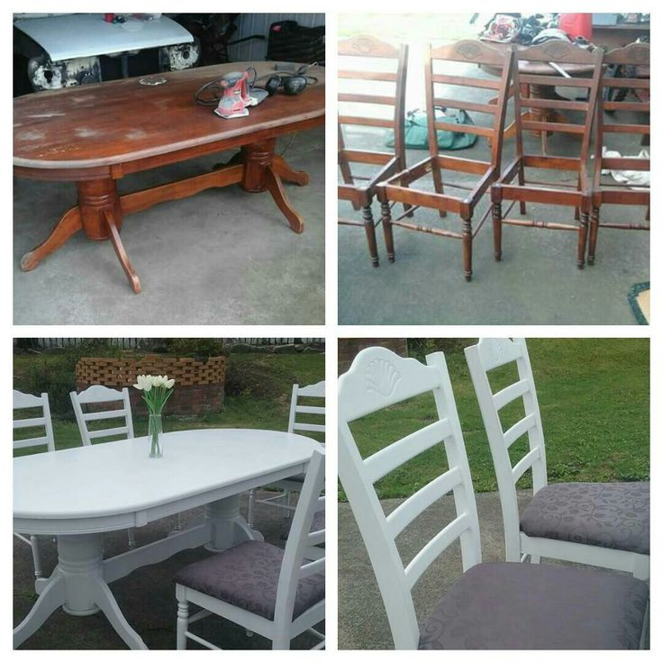 Easy furniture makeover... All you need is a staple gun, some fabric to recover the chairs, paint or stain and some pliers.   Follow my blog below or follow me on Facebook; A little bit of Fairy dust for inspiration :)   https://staciekay95.wordpress.com/