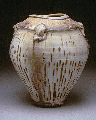 -Wood-Fired-Stoneware-Jar Ceramic alchemicist Josh De Weese