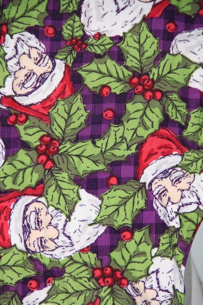 NWT LuLaRoe OS One Size Leggings Christmas Holiday Santa Holly Poinsettia Aztec #LuLaRoe #Leggings