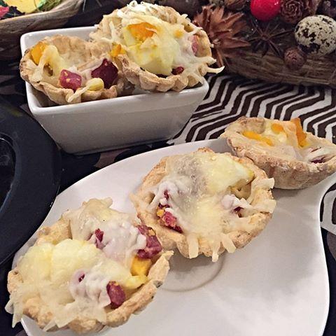 Paleo húsvéti sonkás tojásos kosárkák (gluténmentes, ch csökkentett, diétás recept)