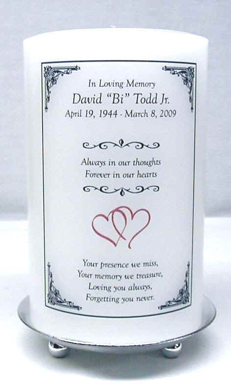 Memorial Candles For Weddings And Special Occasions