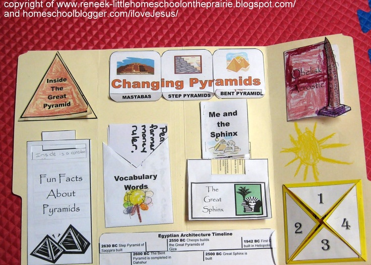 Pyramids lapbook.