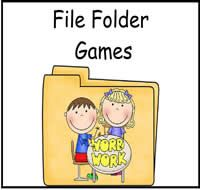 File Folders : File Folder Games at File Folder Heaven - Printable, hands-on fun!