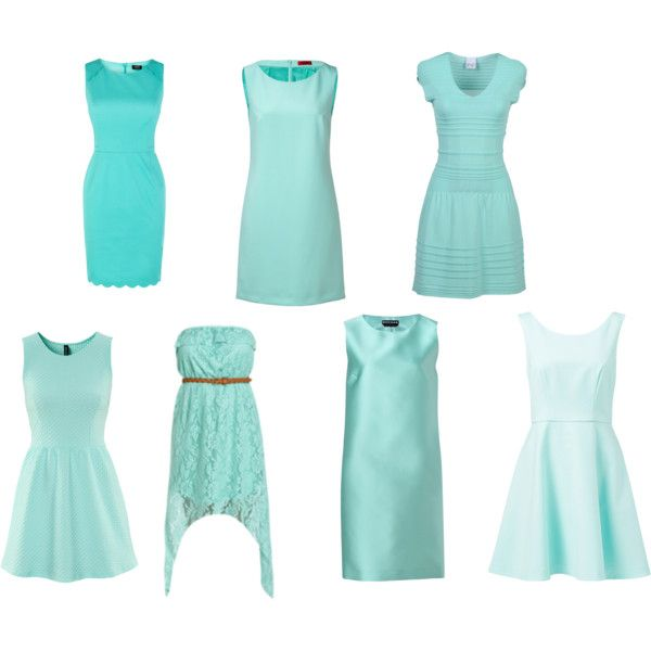 Tiffany Blue dress...modest of course. like the top right??