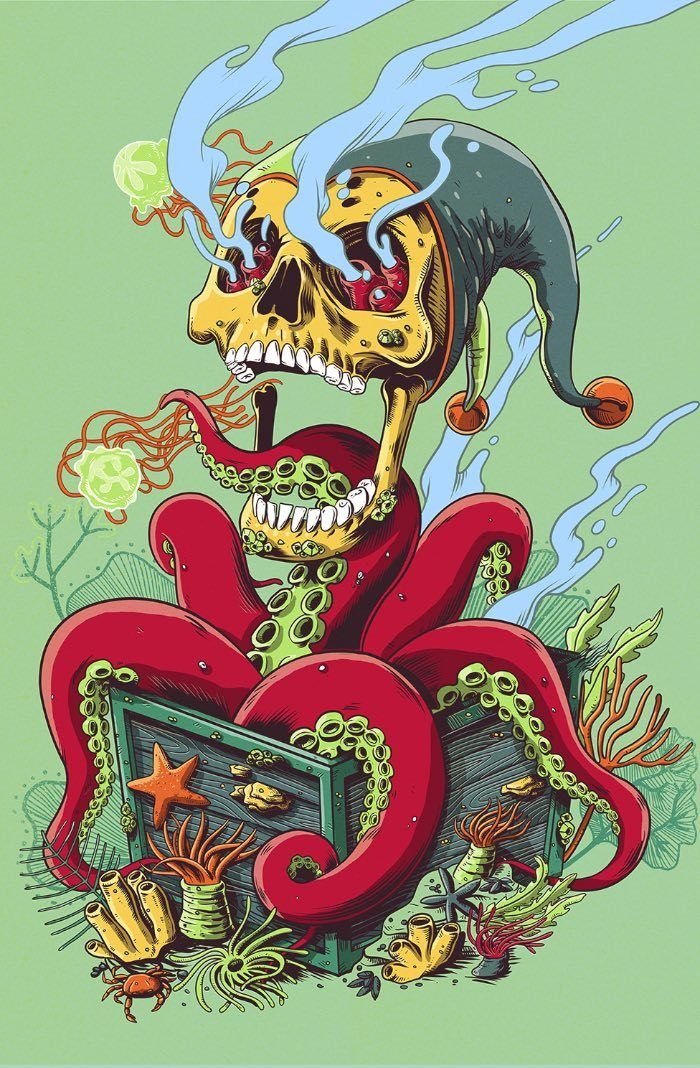 Pedro Correa Via At Pristinaorg Trip Art Skull Art Illustration Art
