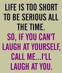 Laughter is the best medicine :)  www.skinnyfiber.ca