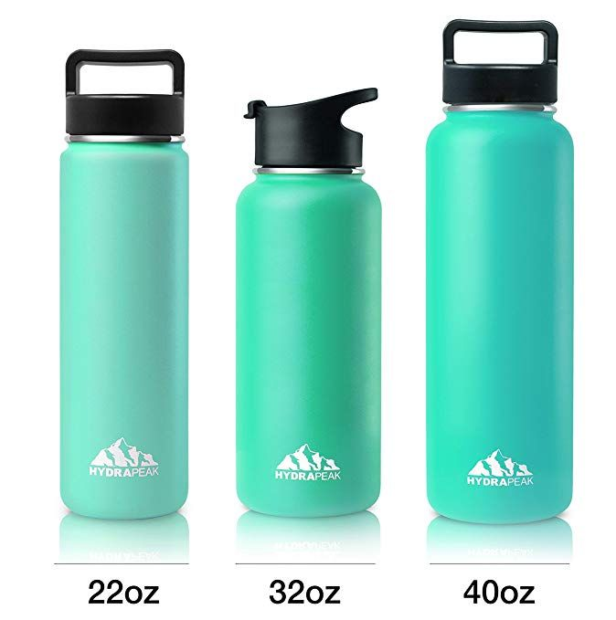 e3e50d7d9a Hydrapeak Stainless Insulated Water Bottle- 22oz BPA Free Wide Mouth,  Double Walled, Flask with Handle Lid. Review