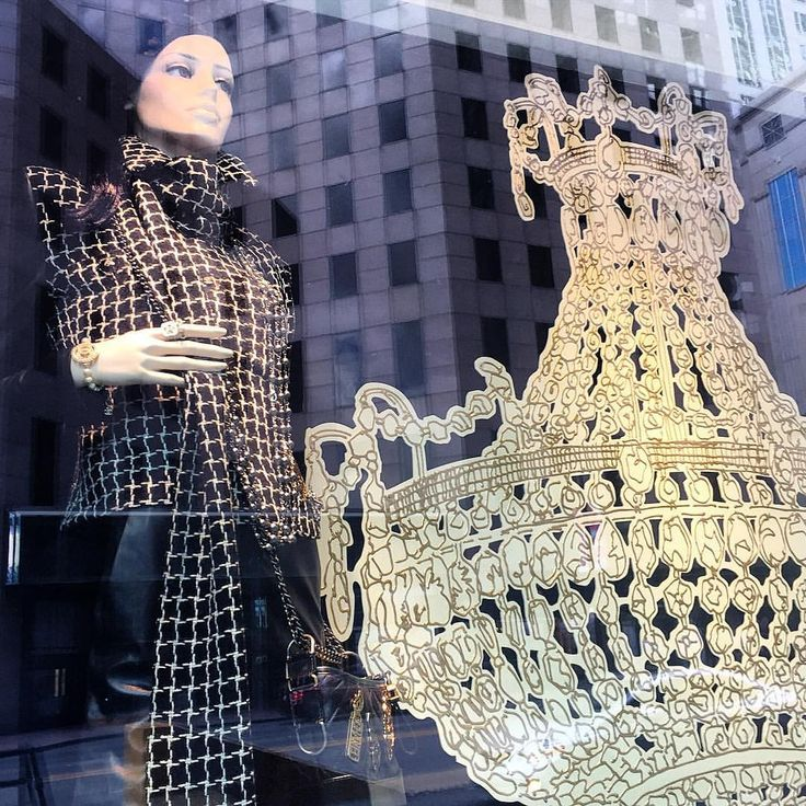 """CHANEL, Michigan Avenue, Chicago, Illinois, """"I'm gonna swing from the chandelier... From the chandelier"""", photo by Kristin, pinned by Ton van der Veer"""