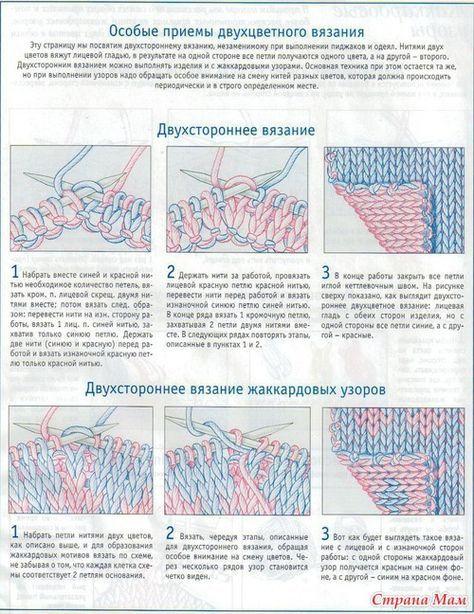 Особые приемы двухцветного вязания и кромочные петли - Вязание - Страна Мам