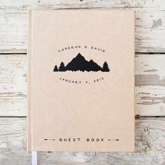 Check out Wedding Guest Book Wedding Guestbook Custom Guest Book Personalized Customized custom design rustic guest book wedding gift mountain wedding on starboardpress