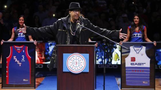 allen iverson's jersey retirement | 76ers retire Allen Iverson's No. 3 jersey | theGrio