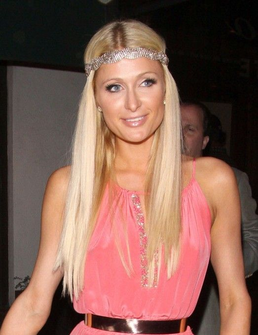 Long Hairstyle with Sparkly Headband from Paris Hilton