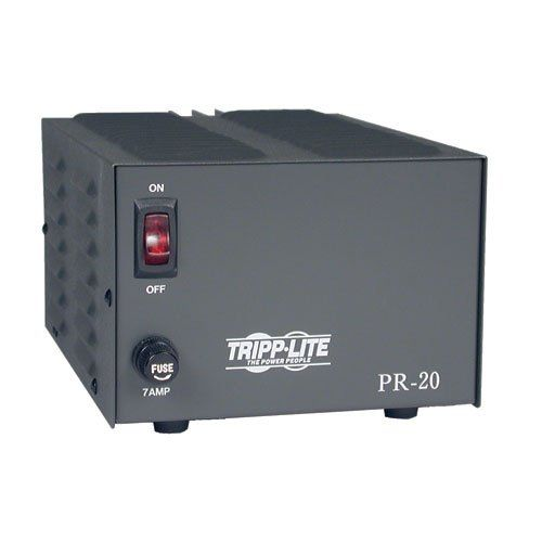 Tripp Lite PR20 DC Power Supply 20A 120V AC Input to 13.8V DC Output TAA GSA