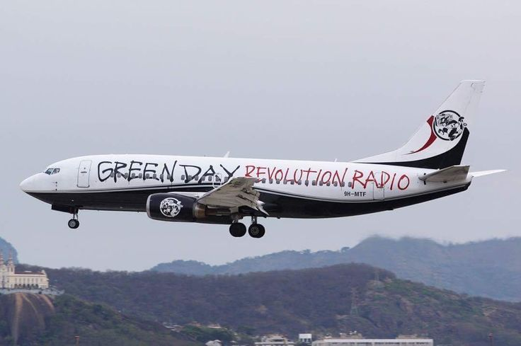 Green Day's plane for the South American tour 2017!!