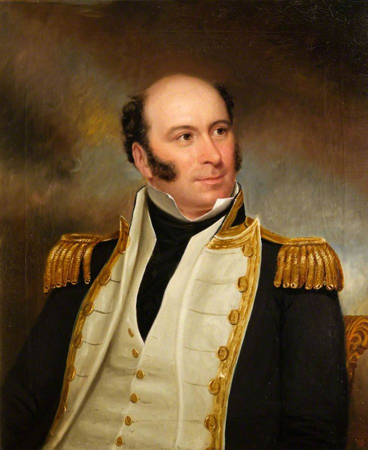 """Captain, Later Rear-Admiral, John Leith-Hay (1788–1854), RN"".  British (English) School.  The National Trust for Scotland, Leith Hall Gardens and Estate."