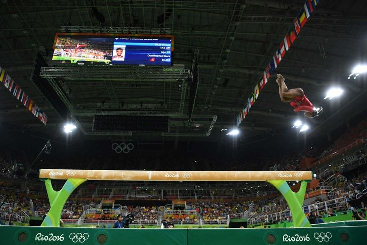 Simone Biles of the United States competes in the balance beam final on Day 10 of the Rio 2016 Olympic Games