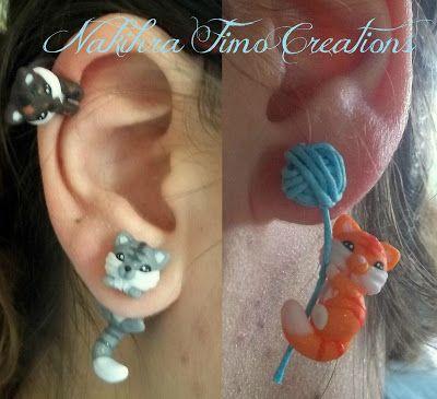 Handamde polymer clay earrings.