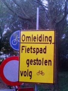 Deze blijft leuk! Heb jij het fietspad al gevonden?
