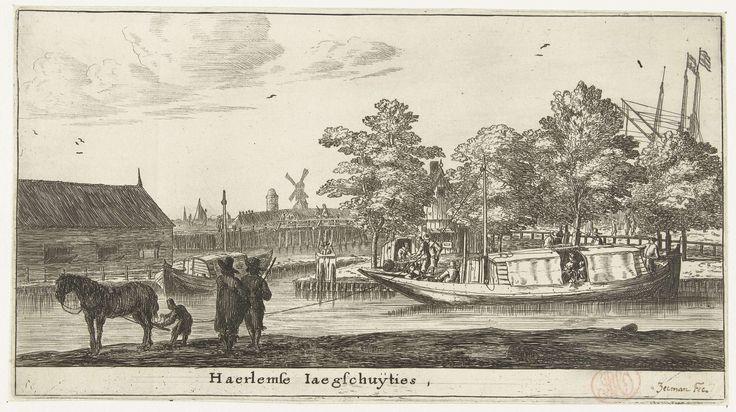 Reinier Nooms   Trekschuit naar Haarlem, Reinier Nooms, 1652 - 1654   De trekschuit naar Haarlem, bij het begin van de Haarlemmerweg.