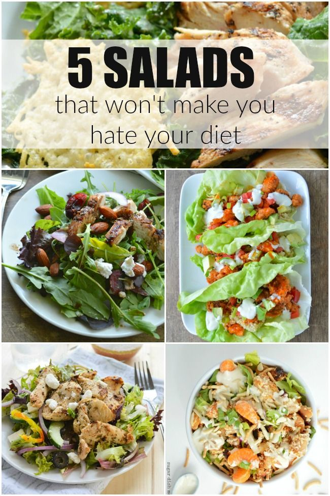 5 Salads That Won't Make You Hate Your Diet - Sugar Dish Me