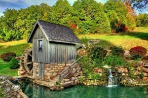 old mill: Favorite Places, Gorgeous Places, So Cute, Amazing Shelters, Amazing Places, Beautiful Pictures, Spring Mills, Grist Mills, Barns Mills Waterwheel