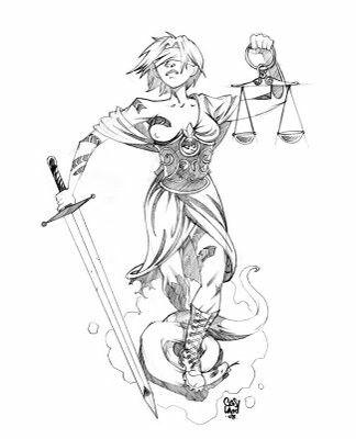 Justitia olli pinterest justitia justitia tattoo for Tattoos of lady justice