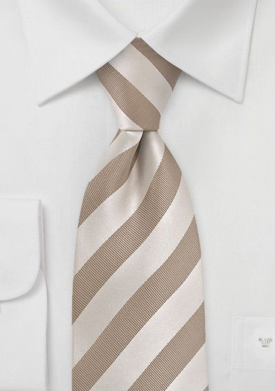 Gold and brown striped bcbg tie